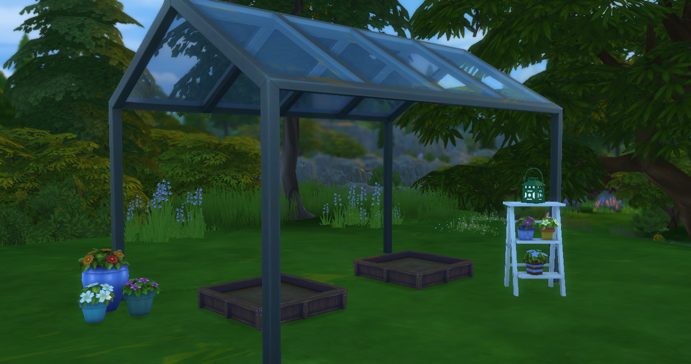 backyard stuff sims in the woods