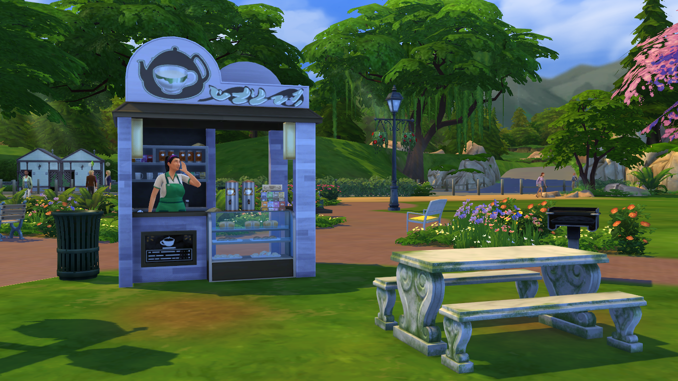 TS4 Download: Auto NPCs (Barista, Stall Vendor and Bartender